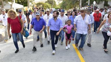 Distrito entregó 210 metros de nuevas vías en el barrio Las Terrazas