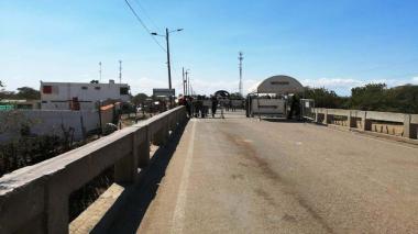 Una desolada Paraguachón en medio de controles por coronavirus