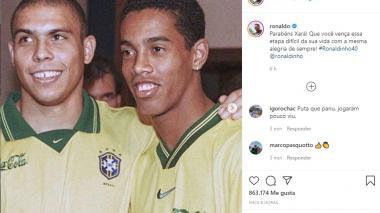 La publicación de Ronaldo Nazario en la red social Instagram.