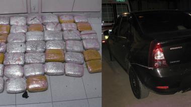 Abandonaron auto cargado con marihuana en la Zona Bananera