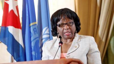 Clarissa Etienne, directora del organismo regional para las Américas.