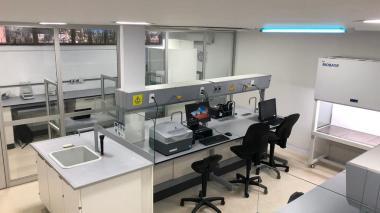 Aspecto del laboratorio de Investigación en Biología Molecular de Uniatlántico.