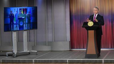 Duque anuncia Campaña Naval Internacional contra el narcotráfico con Venezuela como trasfondo