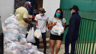 En Galapa se entregan 1.200 mercados del Plan de Alimentación Escolar