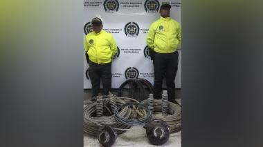 Los elementos que fueron recuperados por la Policía del Atlántico.