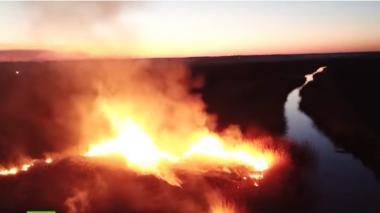 Incendio forestal en Chernóbil se acerca a depósitos de desechos radioactivos