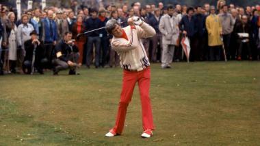 Doug Sanders en sus épocas como golfista.