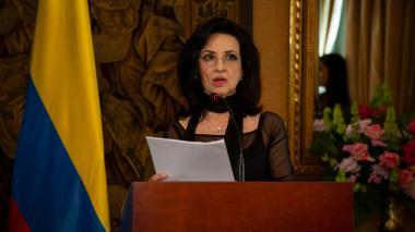 Canciller Claudia Blum, encargada de ratificar el compromiso del Presidente Duque con el éxito del proceso de reincorporación de ex combatientes.