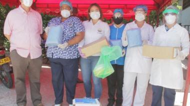 Parte de los elementos donados por la Universidad del Magdalena a la cárcel distrital de Santa Marta.
