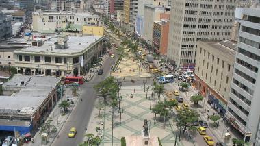 Paseo de Bolívar en el centro de Barranquilla.