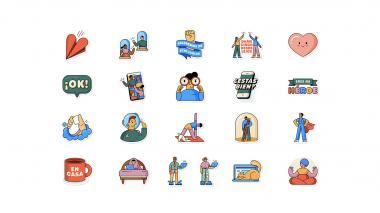 """WhatsApp y la OMS lanzan """"Juntos en casa"""", una nueva colección de stickers"""