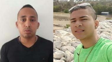 Elkin Cera López, homicida y Juan Camilo Altamar Sánchez, asesinado.