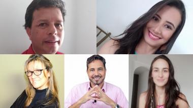 Algunos de los rostros de psicólogos, psiquiatras y 'coaches' detrás de la red de profesionales altruistas.