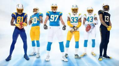 Tras presentar sus nuevos uniformes, Los Angeles Chargers se vuelven tendencia