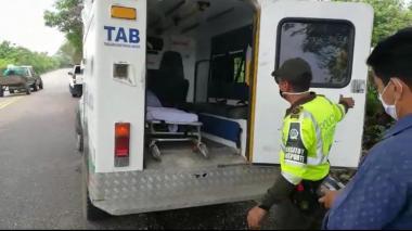 Sorprenden en Magangué a conductor de ambulancia  que prestaba servicio de transporte público