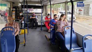 Transmetro movilizará solo personas sentadas en sus rutas desde este lunes