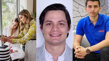 Karina y Lissette Bakarat Co-fundadoras de Tahi Shoes, Luis Nieto Co-fundador de Technisupport y José Otero, fundador y líder de operaciones de Maxdrone Colombia.