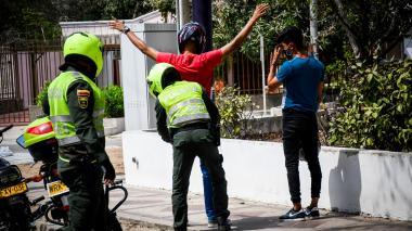 La Policía Metropolitana de Barranquilla realiza operativos en toda la ciudad.