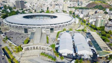Así luce las afueras del estadio Maracaná.