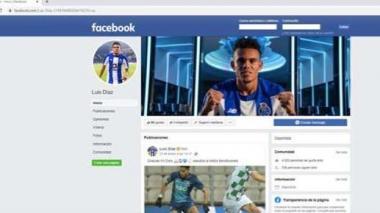 Uno de los perfiles con los que suplantaban al guajiro Luis Díaz en Facebook.