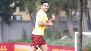 Radamel Falcao García regresando a los entrenamientos.