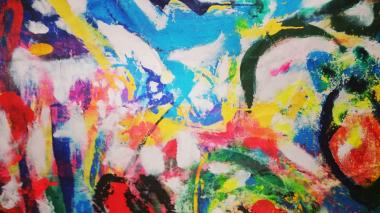 Obra del pintor Leo Lobos incluida en la exposición