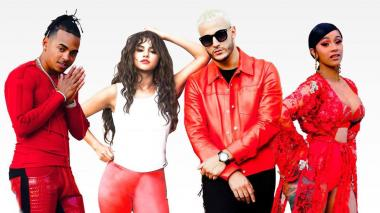 Ozuna, Selena Gómez, Dj Snake y Cardi B en el videoclip.