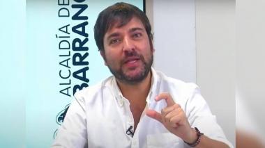Alcalde de Barranquilla, Jaime Pumarejo, explicando la gestión del Distrito para controlar la pandemia.
