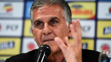 El portugués Carlos Queiroz, técnico de la selección Colombia de mayores.