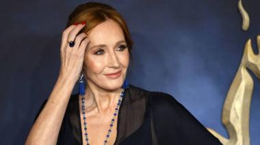 J. K. Rowling en el estreno de