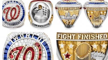 El anillo de campeón de Nacionales: 170 diamantes, 55 rubíes y 32 zafiros
