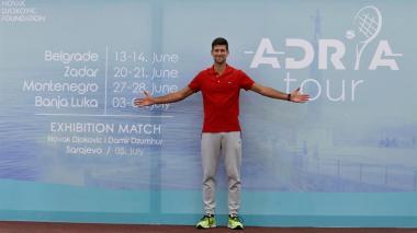 Djokovic, feliz de volver a jugar tenis en un torneo que él mismo organiza