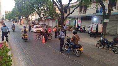 Controles de las autoridades de tránsito de Santa Marta.