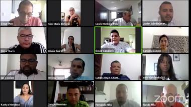 Sesión virtual del Concejo de Cartagena.