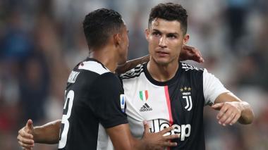 Cristiano Ronaldo celebrando un gol con la Juventus.