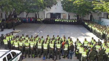 Uniformados de la Policía.