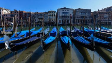 El tráfico acuático se ha visto mermado desde que en Italia se tomaron medidas para frenar la propagación de la COVID-19.