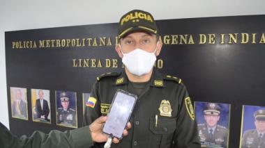 General Henry Sanabria, comandante de la Policía Metropolitana de Cartagena.