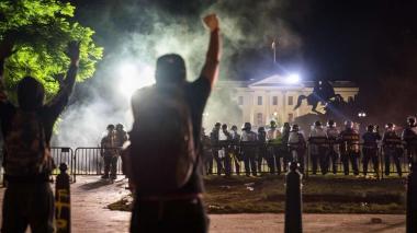 Trump se refugia en el búnker de la Casa Blanca durante protestas
