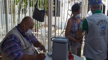 Perros y gatos son vacunados en campaña contra la rabia en Santa Marta