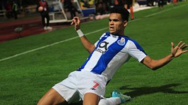 El guajiro Luis Díaz celebra un gol con el FC Porto.