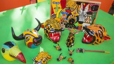 Muestra de artesanías elaboradas en Galapa.