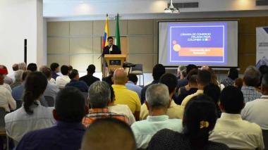 José Antonio Vargas Lleras, presidente de Cámara de Comercio Italiana para Colombia, durante la inauguración del Capítulo Caribe el pasado diciembre.