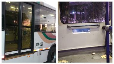 Nuevamente bus de Transmetro es blanco de vándalos