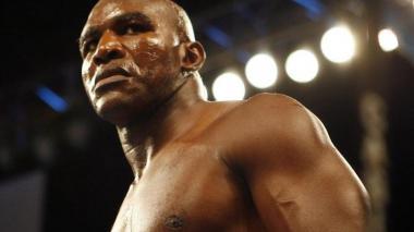 El boxeador estadounidense Evander Holyfield.