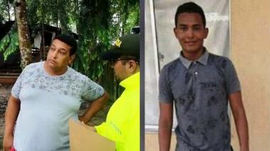 Eder Pacheco Escobar, de 42 años, capturado y Elías David Salas Villar, de 18 años, fallecido.
