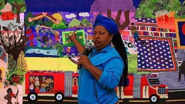 Juana Ruíz, lideresa de la Asociación Mujeres Tejiendo Sueños y Sabores de Mampuján.