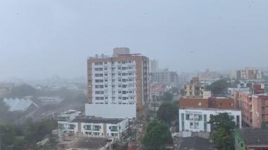Lluvia por sectores en Barranquilla este sábado