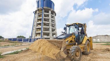 El tanque de almacenamiento ayudará a mejorar el servicio en Sabanalarga.