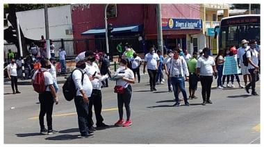 En video | Disturbios en plantón de trabajadores nocturnos en la Murillo